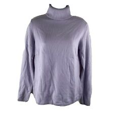 Charter Club Medium 100% CASHMERE Sweater Lavender High Neck Long Sleeves EASTER
