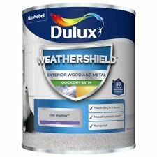 Dulux Weathershield Exterior SATIN Quick Dry Wood Metal - Chic Shadow - 750ml