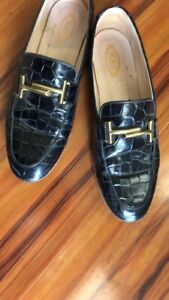 TODS Women's Shoes Driving Loafers Patent Leather Size 9