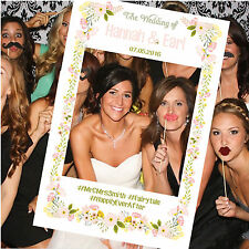 Personalised Flower Photo Booth Frame Photobooth Instagram Facebook Props Party