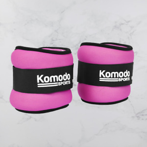 Neoprene Ankle Weights * 2x 0.5kg Home Gym Lifting Jogging Run Exercise - Pink