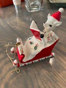 Vintage Japan Holt Howard Christmas 1959 Reindeer Sleigh As Is No Santas Rare