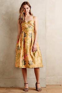 New Anthropologie Botanica Dress by James Coviello Sz 2 $228  5* Review NWT