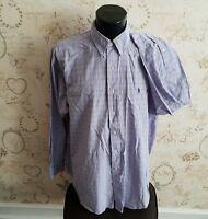 Ralph Lauren  Lilac Check Shirt In XL smart casual mens man's male