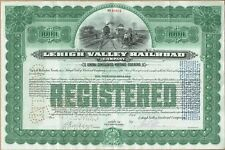 Attractive Large 1945 Lehigh Valley $1000 Railroad Gold Bond