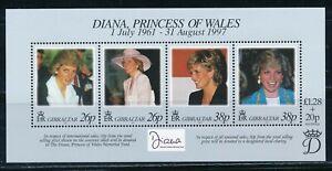Gibraltar - MNH Princess Lady Diana Souvenir Sheet (1997)