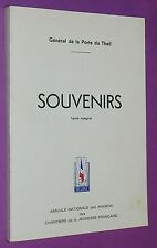 GENERAL DE LA PORTE DU THEIL SOUVENIRS CHANTIERS JEUNESSE C.J.F. 1940-1944 VICHY