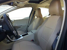 TAN LEATHERETTE /  SYNTHETIC SIDES Two Front SEAT COVERS fits SUV XC60 XC70 XC90