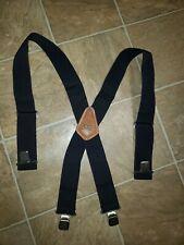 Custom Leather Craft Top Grain Cowhide Blue Heavy Duty Work Suspenders