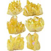 Natural Citrine Crystal Quartz Cluster Gem Stone Healing Specimen d Yellow E8R9