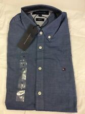 Tommy Hilfiger Slim Fit Mens Long Sleeve Shirt, Small