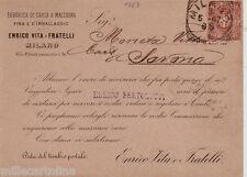 #MILANO: testatina-1887 - ENRICO VITA E FRATELLI- Fabbrica di carta a macchina