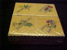 Mary Engelbreit Wood Mounted 4 Flowers Stamp Set OOP