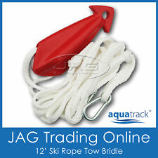 WATERSKI SKI ROPE TOW BRIDLE Harness/Pulley/Float/Stainless Steel Snap Hooks