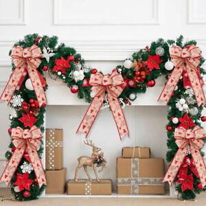 Fashion Large Bow Bowknot Christmas Tree Ornaments XMAS Holiday Party Home Decor