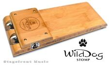 WILD DOG SILVERBACK STOMP BOX MADE IN AUSTRALIA BAMBOO TIMBER WITH JINGLES *NEW*