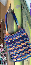 ~ Knitting Pattern For Chevron Stripe Felted Tote Bag ~