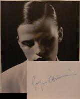 Giorgio Armani signiert Mode Karte original Unterschrift Signatur Autogramm