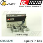 King Big End Con Rod Bearings CR4305AM STD For RENAULT 1.2 D4F-D7F