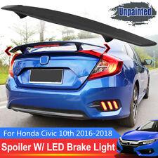 LED R STYLE FC Spoiler Rear Trunk Wing Brake Light For Honda Civic 10TH 2016-18