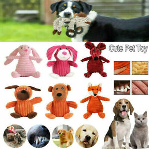 Cute Pet Dog Chew Toy Squeaker Squeaky Soft Plush Play Sound Puppy Teeth Toy Hot