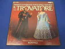 Verdi Il Trovatore Pavarotti Sutherland Horne OSA-13124, 3 Records with Score