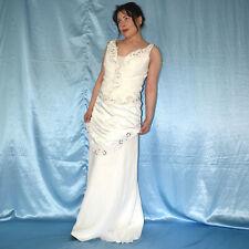 Elegante Novia Disfraz con Falda + Corsé M (40) de Dos Piezas Set Vestido