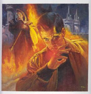 Sanjulian Perez Clemente Originalzeichnung Cover Horror Fantasy Monster signiert