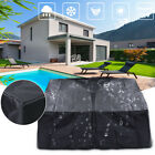 Waterproof Black Square Fire Pit Cover Canvas Covers BBQ Grill Dust Protector