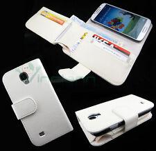 Custodia BIANCA portafoglio banconote pelle per Samsung Galaxy S4 i9505 BOOKLET