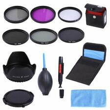 52MM UV CPL FLD ND2 4 8 ND Filter Kit Lens Hood Cap For Nikon D5500 D750 18-55mm