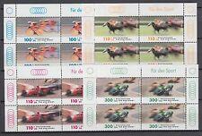 Bund 2031-2034 Viererblock ** Sporthilfe 1999 Autorennen Radsport Pferderennen