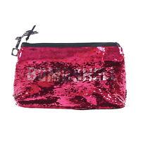 Victoria's Secret Makeup Bag Bombshell Sequins Clutch Handbag Case New Vs Nwt