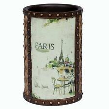 Creative Bath I LOVE PARIS VTG Look Beaded Suitcase Bathroom Tumbler NWT DISC