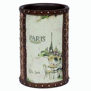 Creative Bath I LOVE PARIS VTG Look Beaded Suitcase Bathroom Tumbler NWT DISC