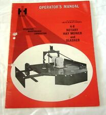 International Harverster 4-8 Rotary Hay Mower & Slasher Operator's Manual