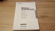 Originale Sony Bedienungsanleitung für STR-DE185 guter Zustand