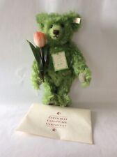 """Steiff 13"""" Curly Green Mohair Limited Edition Hellgrun 35 Teddy Bear"""