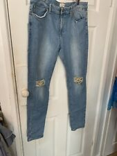 river island men skinny waist size  36 strech denim jeans
