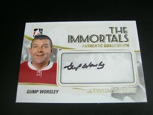2010 11 ITG Between The Pipes The Immortals Autograph AGW Lorne Gump Worsley ZH1