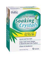 PediFix Tea Tree Ultimates Soaking Crystals Foot Bath Epsom & Sea Salt 6 x 1 Oz
