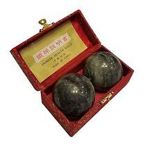 Black Marble Stone Chinese Healthy Exercise Massage Baoding Balls
