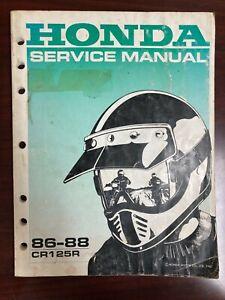 OEM Fábrica Honda Servicio Tienda Reparación Manual CR125R 1986-1988