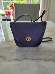 Vintage Coach Bag Everett CrossBody Purple Leather #9934 Mini