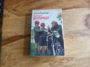 JENNINGS BUCKERIDGE SPEAKING OF JENNINGS HARDBACK  FIRST EDITION
