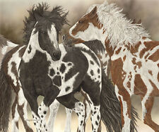 """Boys to Men"" Judy Larson Fine Art Giclee Print - Hidden Horses?"