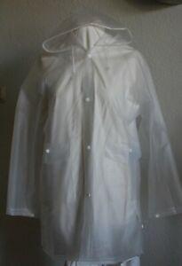 PVC Regenmantel,transparent,neu,Gr. S, mit Kapuze