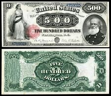 NEW!!! LOOK Reproduction 1880   $500  US Banknote, Amazing  Detail, Super Hi-Res