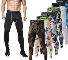 Men Thermal Sport Compression Base Layer Running Jogger Cycling Long Pants New
