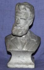Vintage hand made metal bust statuette Hristo Botev